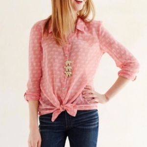 HeiHei Elephant Button Down Blouse